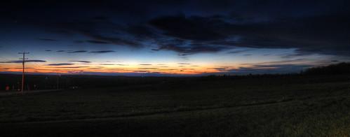 county sunset panorama maine knox waldo hdr a470 ridgetop