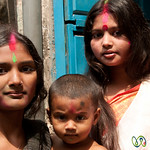 Hindu Family Together on Holi - Old Dhaka, Bangladesh