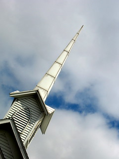 here is the church. here is the steeple.