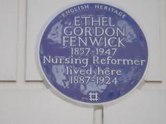 Photo of Ethel Gordon Fenwick blue plaque