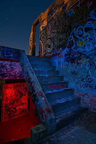 urban abandoned night ruins texas fort packing meat worth swift exploration urbex