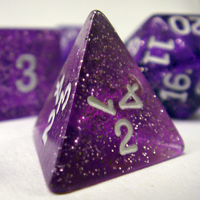 what is a 30 sided die called strike thre