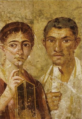 Origen Matrimonio Romano : Historia romana mural pompeyano