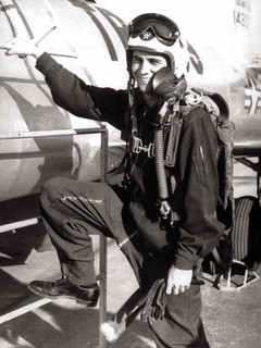 Dad as a jet pilot in the Air Force, 1950s
