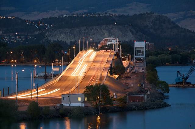 New Lake Okanagan Bridge in Kelowna, BC