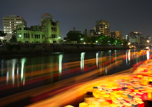 A-Bomb Dome  August 6 灯篭流し(Lanterns Floating) [Worldheritage]
