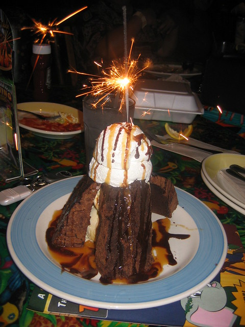 volcano cake at the rainforest cafe flickr photo