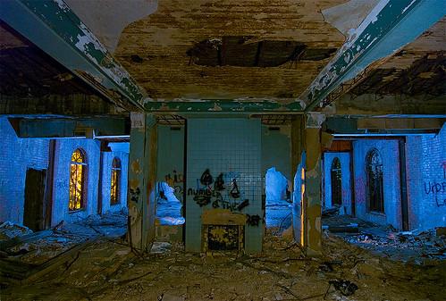abandoned home night circle ruins texas sherman urbex woodmens
