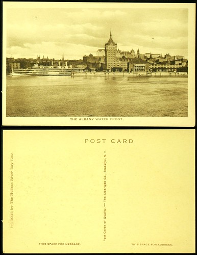Albany waterfront postcard