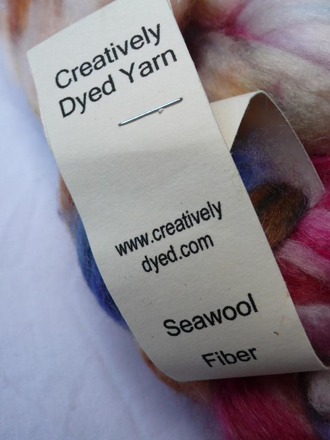 Creatively Dyed seawool, 8 oz (from The Loopy Ewe)