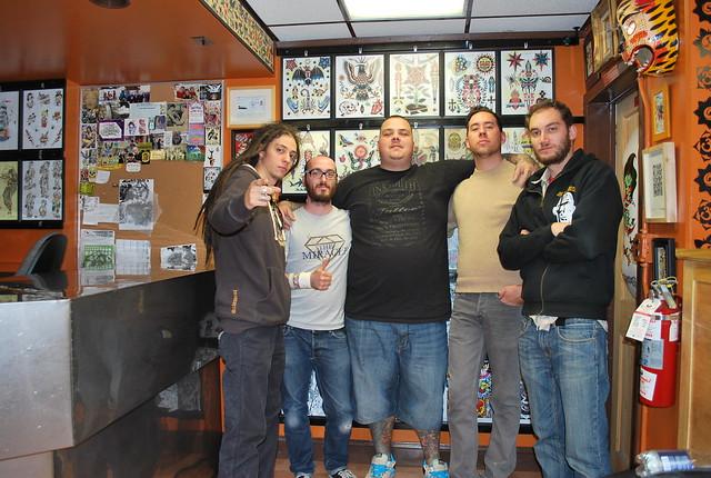 Crew bert krak fernando top shelf tattoo queens for Top shelf tattoos
