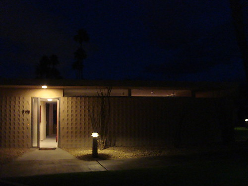 The Seven Lakes Condo at Night, Entry/Front Elevation Detail