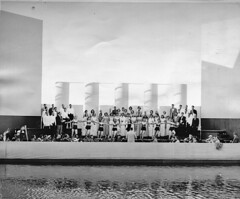 Aqua Theatre rehearsal, 1955