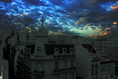 argentina clouds sunrise buenosaires downtown centro roofs amanecer nubes ba baixa cupulas techos