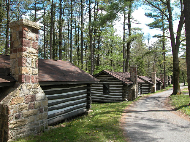 rustic cabins at black moshannon state park pennsylvania