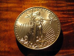 US gold Liberty dollar coin
