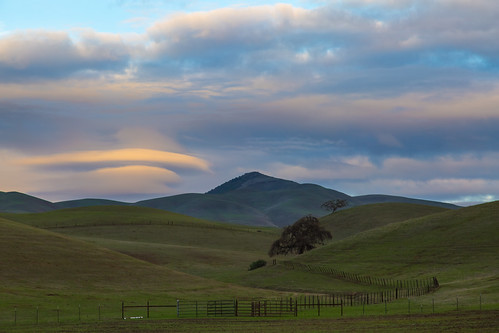 sunset clouds rural fence day cloudy hills sanbenitocounty