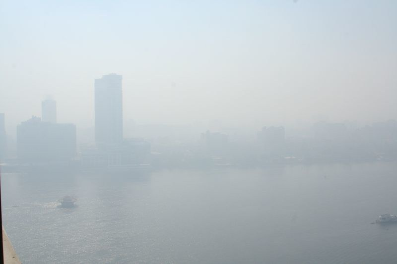 Nile River Cairo Air Pollution Smog and Haze