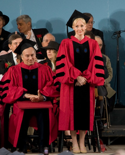 J. K. Rowling accepts her honorary degree