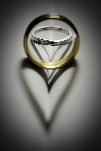 My Shadow Is One With Camera Other One >> Wedding rings heart shadow | Flickr - Photo Sharing!