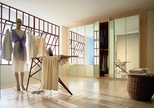 "Mazzali: ""900"" wardrobe / l'armadio ""900"" . Living area"