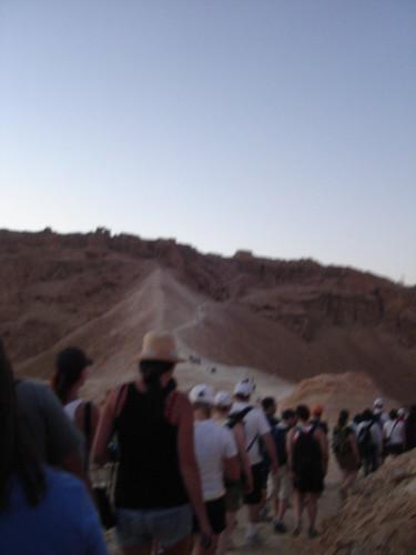 Walking up the Roman Ramp