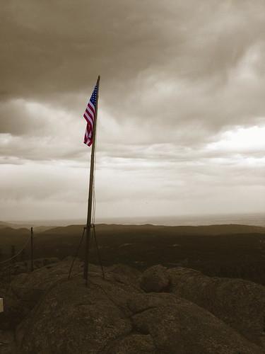 usa mountains landscape rockies colorado unitedstates flag patriotic american devilshead