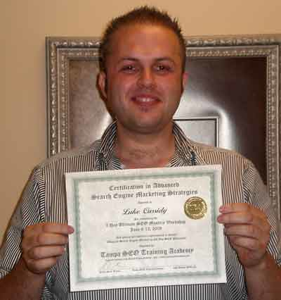 Luke C. - SEO Training Course Graduate of the Tampa SEO Training Academy