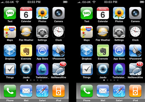 how to move icons on iphone 4