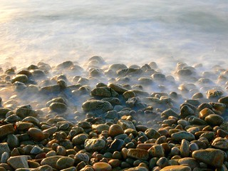 Pebbles in the mist