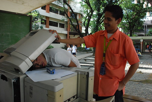 Me trying to photocopy my self