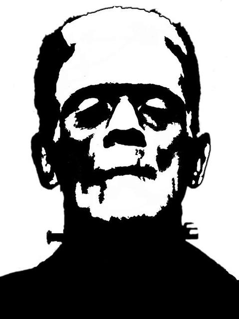 Frankenstein stencil flickr photo sharing for Frankenstein pumpkin templates