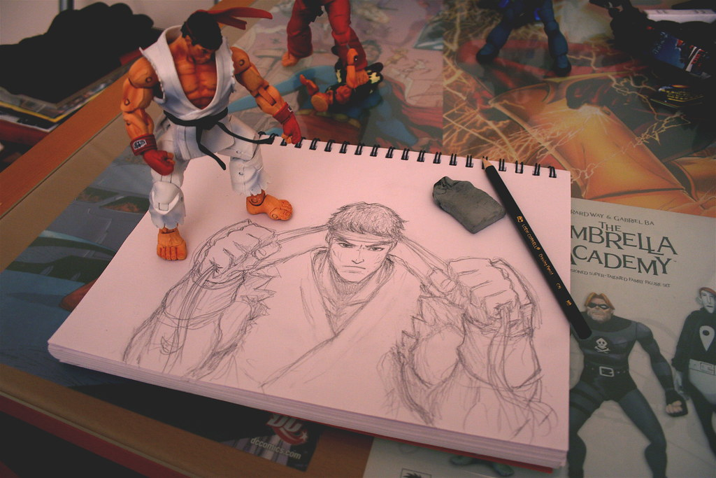 How To Draw Ryu From Street Fighter Step By Step