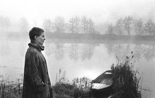 Jean Seberg on the banks of the Loire River in France, where she made a pilgrimmage to the places that Joan of Arc lived and died in, just before she made the film 'Saint Joan' 1956, by Bob Willoughby