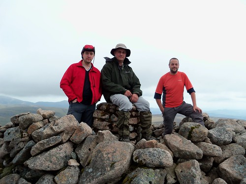 Mike me and Graham summit Beinn Dearg