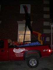 Superchicken on Lindseys truck