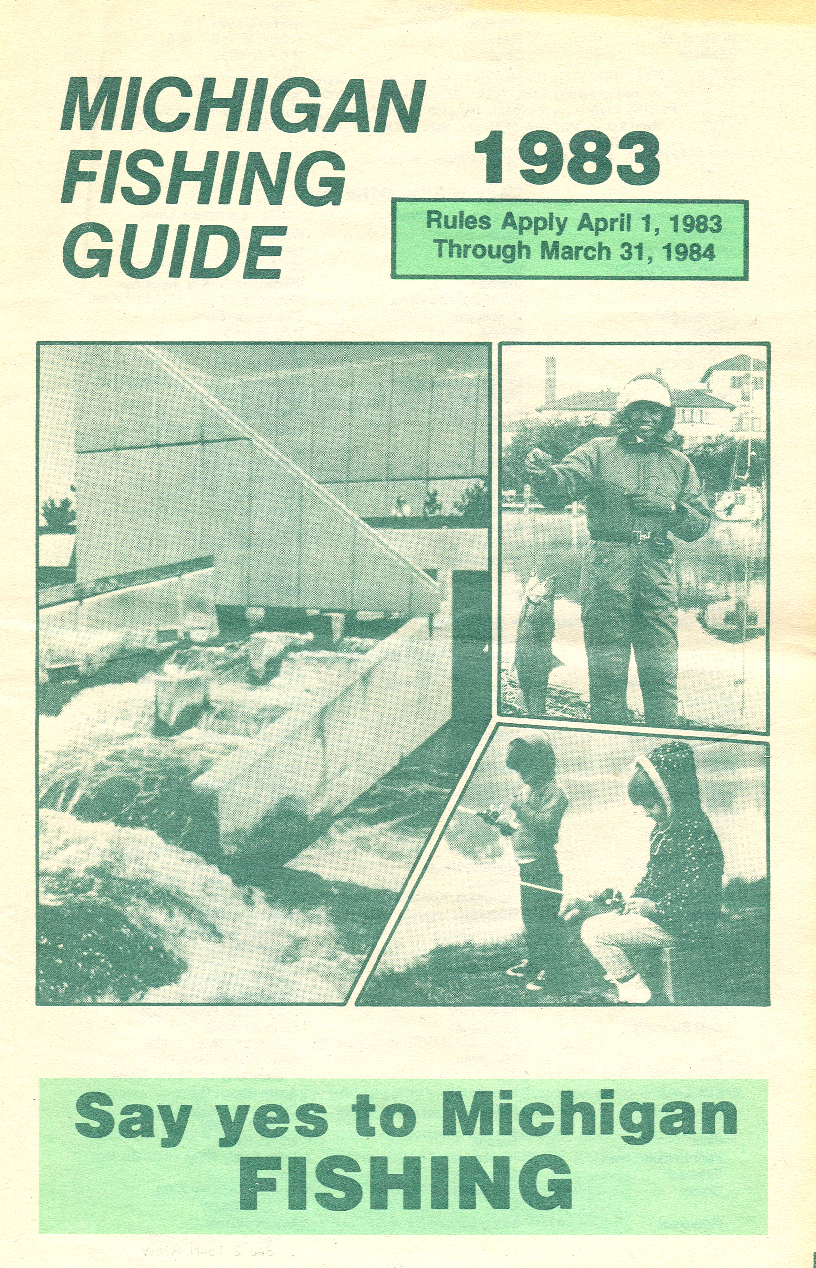 1983 michigan vintage fishing license law digest guide for Michigan fishing regulations