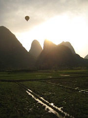 Balloons and Mountains in the Sun