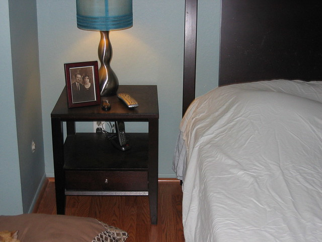 night stand and lamp flickr photo sharing. Black Bedroom Furniture Sets. Home Design Ideas