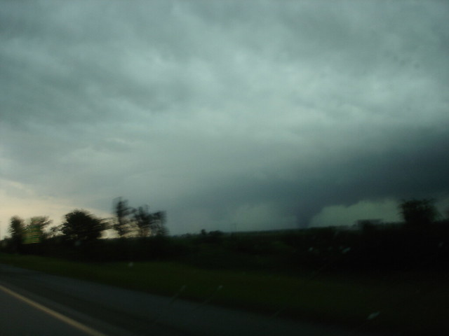 Wall cloud tornado