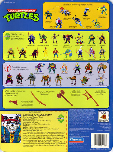 TEENAGE MUTANT NINJA TURTLES :: PANDA KHAN ..card backer  ii (( 1990 )) by tOkKa