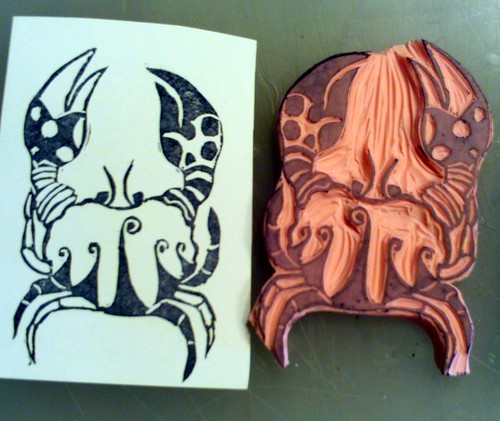 whimsical Crab Stamp