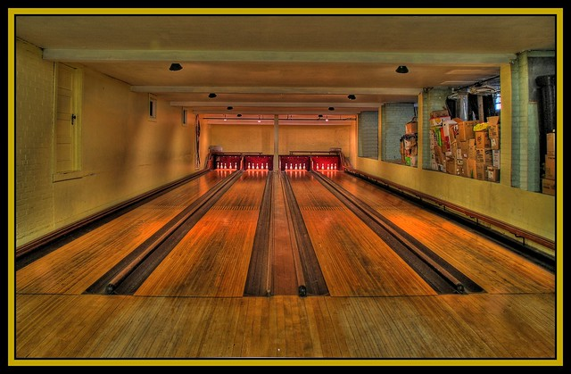 bowling alley in church basement flickr photo sharing