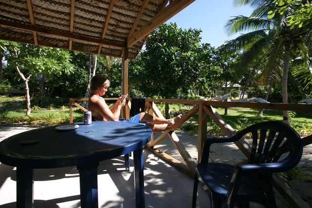 Relaxion at the Matafonua Lodge, Ha'apai - Tonga.