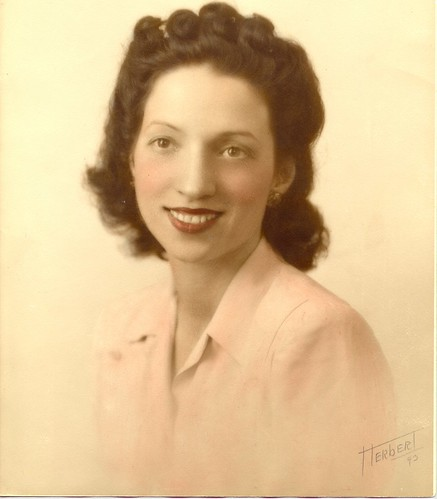 My mom, Lillian, 1943 by Alida's Photos