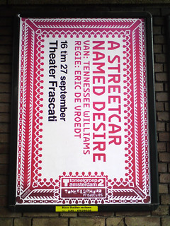 poster in the city of Amsterdam: A STREET CAR NAMED DESIRE
