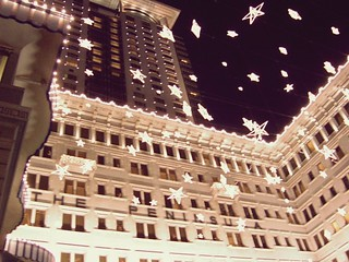 Exterior at night in Christmas Eve - Peninsula Hong Kong