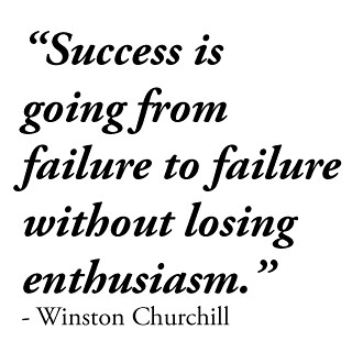 Churchill success quotation