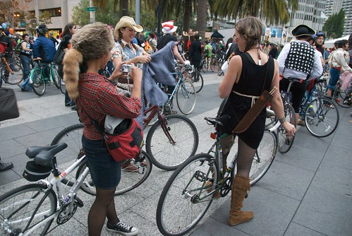 Halloween Critical Mass in San Francisco