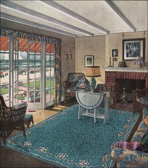 1923 Blabon Art Linoleum Rug